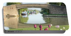 Spring On The Oxford Canal Portable Battery Charger by Linsey Williams
