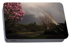 Portable Battery Charger featuring the photograph Spring Rainbow by Katie Wing Vigil