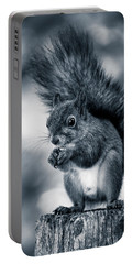 Squirrel In Monochrome Portable Battery Charger