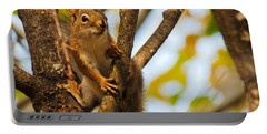 Portable Battery Charger featuring the photograph Squirrel On High by Cheryl Baxter