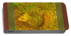 Portable Battery Charger featuring the photograph Squirrel Under My Tree by Lenore Senior