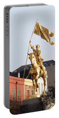 Portable Battery Charger featuring the photograph St. Joan At Dawn by Alys Caviness-Gober