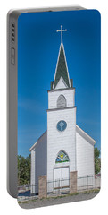 Portable Battery Charger featuring the photograph St. John The Evangelist Catholic Church by Fran Riley