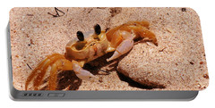 St. Lucia Crab On Beach Portable Battery Charger