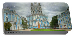 Smolny Convent. St. Petersburg. Russia Portable Battery Charger