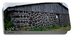 Portable Battery Charger featuring the photograph Stacked Block Barn by Barbara McMahon