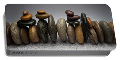 Stacked River Stones Portable Battery Charger