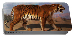 Stalking Tiger Portable Battery Charger by Rosa Bonheur