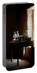Portable Battery Charger featuring the photograph Standing In The Shadow Of Time by Vicki Pelham