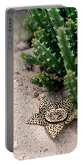Stapelia Variegata Portable Battery Charger by Laura Melis