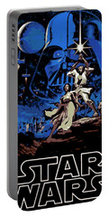 Star Wars Poster Portable Battery Charger by George Pedro