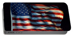 Stars And Stripes At Night Portable Battery Charger