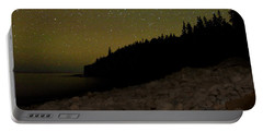 Portable Battery Charger featuring the photograph Stars Over Otter Cliffs by Brent L Ander