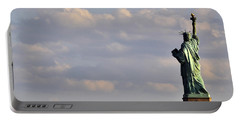 Statue Of Liberty Portable Battery Charger by Zawhaus Photography
