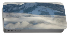 Portable Battery Charger featuring the photograph Steamboat Ski Area In Clouds by Don Schwartz