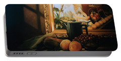 Still Life With Hopper Portable Battery Charger by Patrick Anthony Pierson