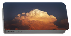 Portable Battery Charger featuring the photograph Storm Clouds At Sunset by Mark Dodd
