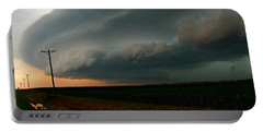 Portable Battery Charger featuring the photograph Storm Front by Debbie Portwood