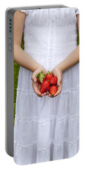 Strawberries Portable Battery Charger by Joana Kruse
