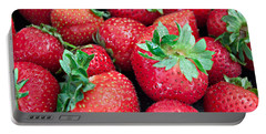 Strawberry Delight Portable Battery Charger by Sherry Hallemeier