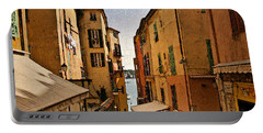 Street In Villefranche II Portable Battery Charger