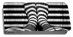 Stripe Socks? Portable Battery Charger