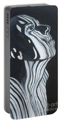 Portable Battery Charger featuring the painting Stripes by Julie Brugh Riffey