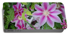 Summer Clematis Portable Battery Charger