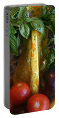 Portable Battery Charger featuring the photograph Summer's Bounty by Kay Novy