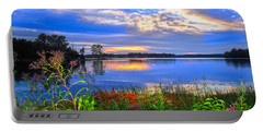 Portable Battery Charger featuring the photograph Summertime Walk Around Lake  by Randall Branham