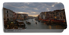Sun Sets Over Venice Portable Battery Charger