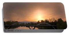 Sunburst Sunset Over Caveman Bridge Portable Battery Charger