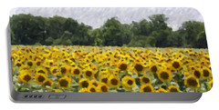 Portable Battery Charger featuring the photograph Sunflower Field by Donna  Smith