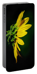 Portable Battery Charger featuring the photograph Sunflower In Profile by Vicki Pelham