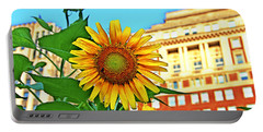 Portable Battery Charger featuring the photograph Sunflower In The City by Alice Gipson