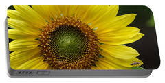 Sunflower With Insect Portable Battery Charger by Daniel Reed