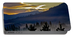 Portable Battery Charger featuring the photograph Sunrise And Valley Fog by Albert Seger