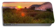 Sunrise At Snake River Portable Battery Charger