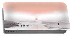 Pastel Sunrise Beach Portable Battery Charger