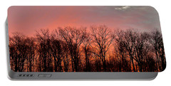 Portable Battery Charger featuring the photograph Sunrise Behind The Trees by Mark Dodd