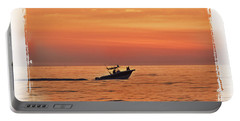 Portable Battery Charger featuring the photograph Sunrise Boat Ride by Janie Johnson