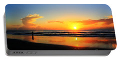 Sunrise Couple Portable Battery Charger by Dan Stone