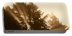 Sunrise In Sepia Portable Battery Charger