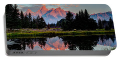 Sunrise On The Tetons Portable Battery Charger