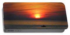Sunrise Over Gyeng-po Sea Portable Battery Charger by Kume Bryant