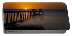 Sunset Across Currituck Sound Portable Battery Charger