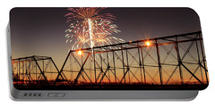 Sunset And Fireworks Portable Battery Charger
