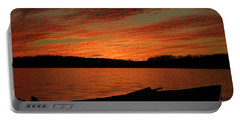 Sunset And Kayak Portable Battery Charger