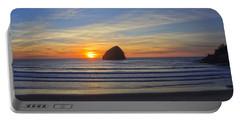 Sunset At Cape Kiwanda Oregon Portable Battery Charger