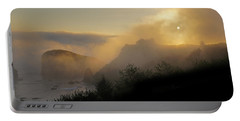 Sunset At Harris Beach Portable Battery Charger by Mick Anderson